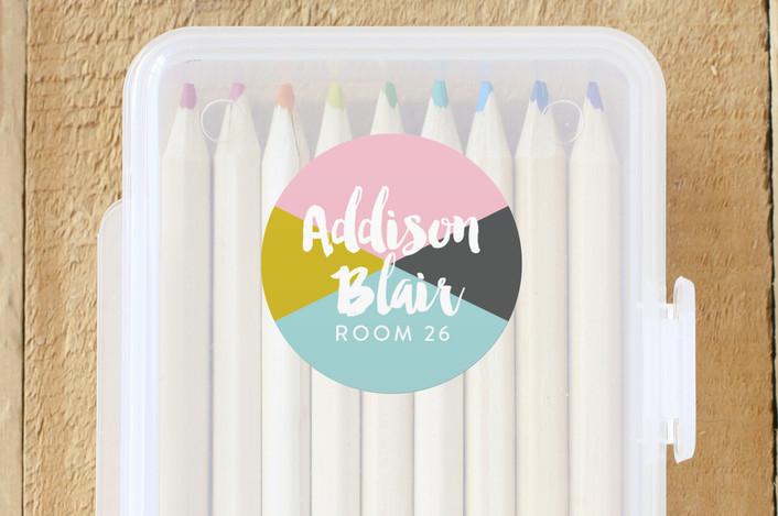 """Venice Brush"" - Custom Name Labels in Petal by Abby Munn."