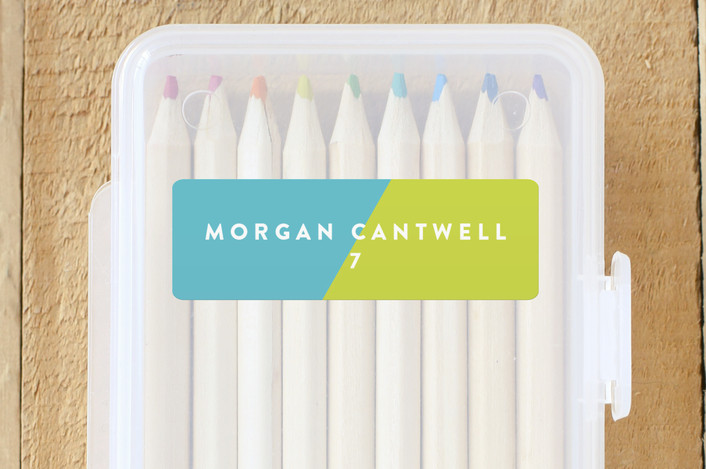 """""""Favorite Colors"""" - Custom Name Labels in Lime by Abby Munn."""