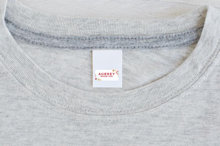 """Audrey"" - Custom Name Labels in Rose by peetie design."