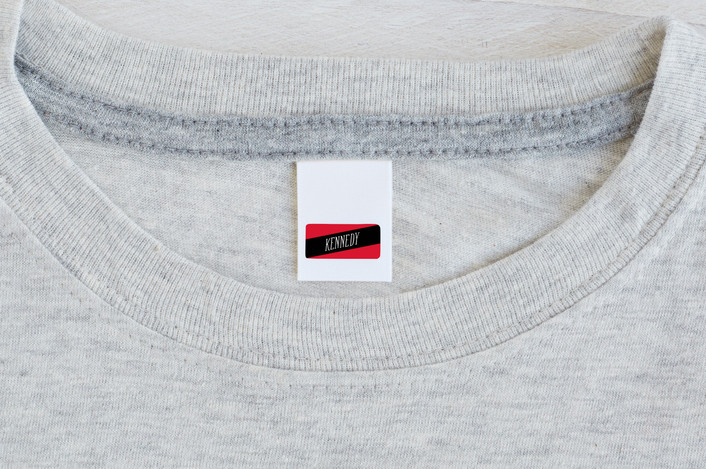 """""""My Stripe"""" - Custom Name Labels in Cherry by Carrie ONeal."""