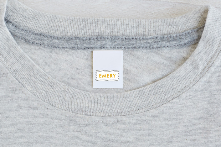 """""""Out Of Line"""" - Custom Name Labels in Marigold by Chelsey Scott."""