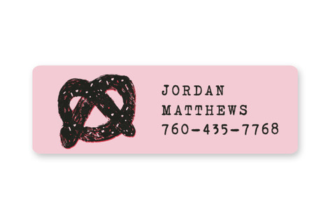 Pretzel Custom Name Label