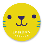 This is a yellow name label by Lori Wemple called Kitty with standard printing on waterproof sticker paper in sticker.