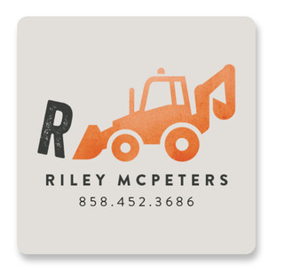 Little Loader Custom Name Label