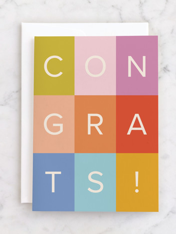 colorful congrats!
