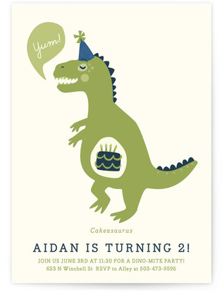 Cakeasaurus Dinosaur Children's Birthday Party Postcards