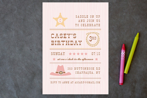 Yeehaw Children's Birthday Party Postcards