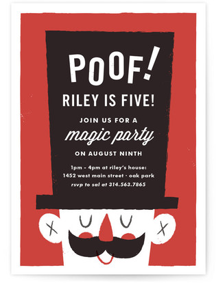 Poof Birthday Magic Children's Birthday Party Postcards