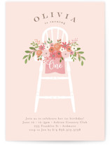 This is a pink kids birthday invitation by Jennifer Wick called Freshly cut flowers with standard printing on signature in postcard.