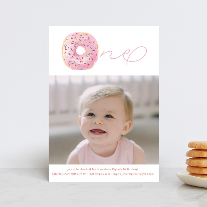 """Sprinkle Me One"" - Children's Birthday Party Postcards in Candy by Lagniappe Paper."