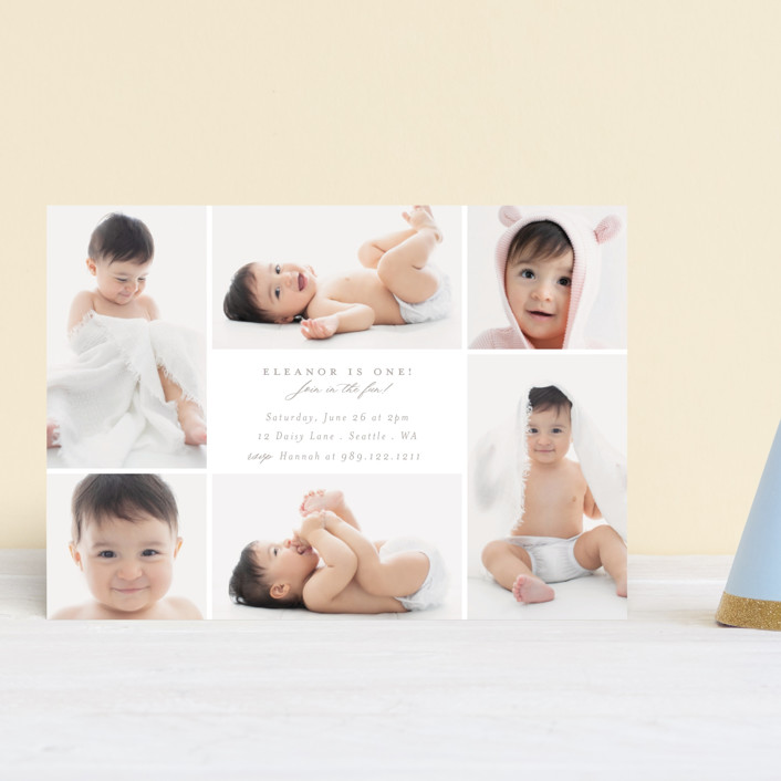 """""""Join in the fun!"""" - Children's Birthday Party Postcards in Cloud by Caitlin Considine."""