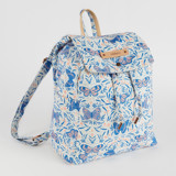 This is a purple canvas backpack by Paper Raven Co. called Pretty Pretty Butterfly.