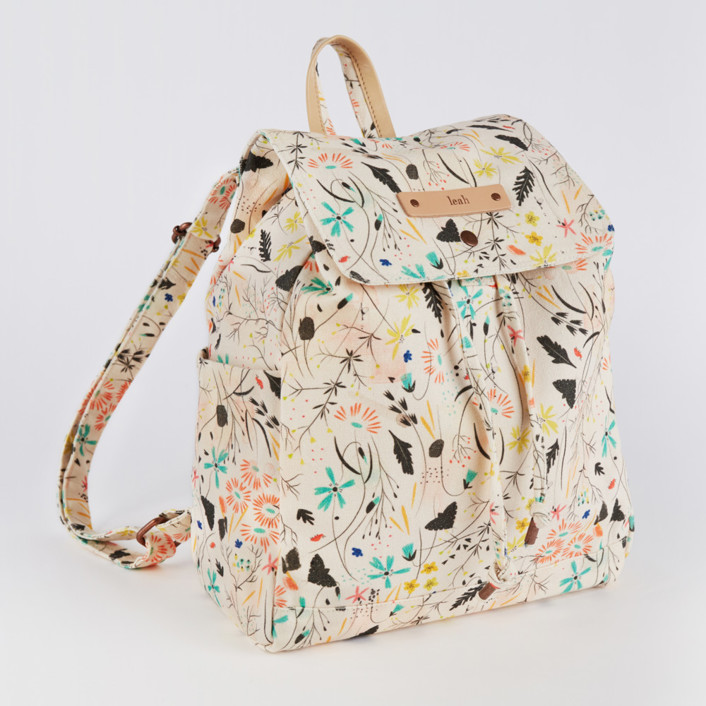 Wildflower Meadow Canvas Snap Backpack