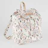 This is a pink canvas backpack by Vivian Yiwing called Camillia.