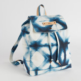 Indigo Diamond Canvas Snap Backpack