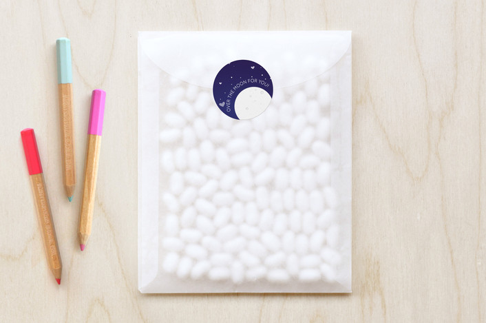 """To the Moon"" - Custom Stickers in Night Sky by Kellie Medivitz."