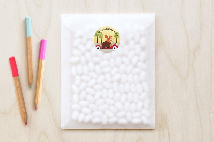 """""""Rollin'"""" - Custom Stickers in Maize by Erica Krystek."""