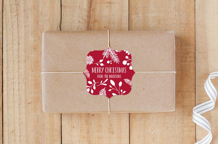 """""""Merry Christmas Leaf"""" - Custom Stickers in Holly by Jan Shepherd."""