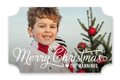 Merry Christmas Script Custom Stickers