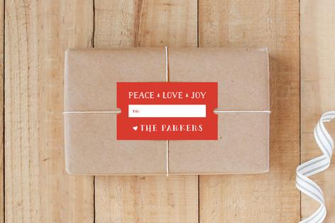 Peace Love Joy Ticket Custom Stickers