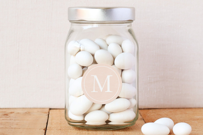 """Classic Monogram"" - Custom Stickers in Blush by Stacey Meacham."