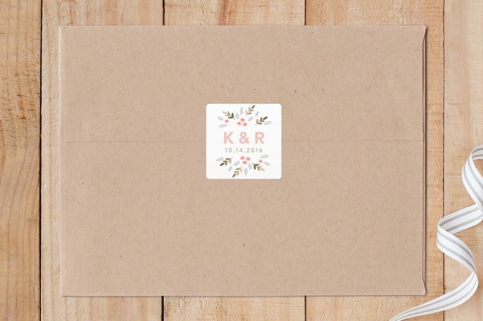 """Flower Garden"" - Custom Stickers in Wild Strawberry by August and Oak."
