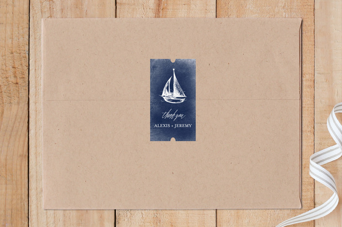"""Sail Away"" - Custom Stickers in Navy by Rebecca Bowen."