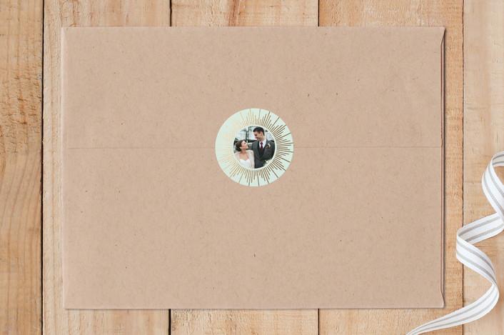 """""""Sunburst"""" - Custom Stickers in Mint by Itsy Belle Studio."""