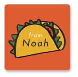 This is a orange custom sticker by Erin L. Wilson called More than Tacos with standard printing on uncoated sticker paper in sticker.