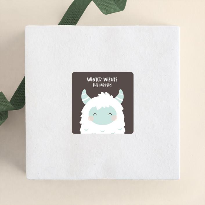 """letter to Santa"" - Whimsical & Funny Custom Stickers in Mistletoe by peetie design."
