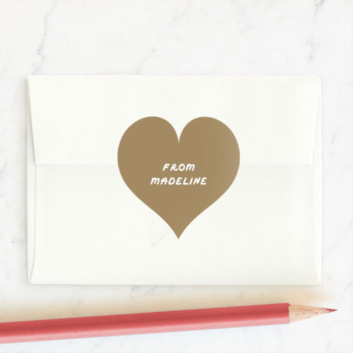 """""""Heart of Gold"""" - Custom Stickers in Vanilla Frosting by Erica Krystek."""