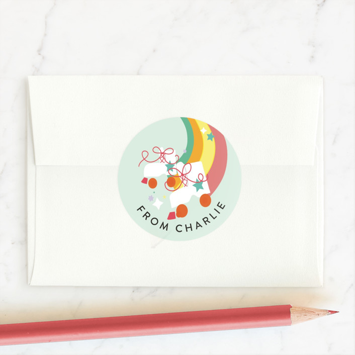 """""""The Way You Roll"""" - Custom Stickers in Sky by Itsy Belle Studio."""