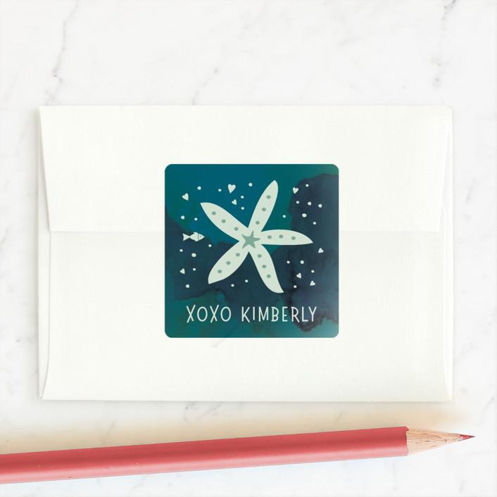 """Turtley Friends"" - Custom Stickers in Aquamarine by Stellax Creative."