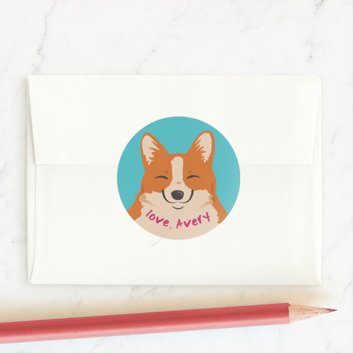 """""""A Pawsome Valentine"""" - Custom Stickers in Blue Raspberry by Sovelle."""