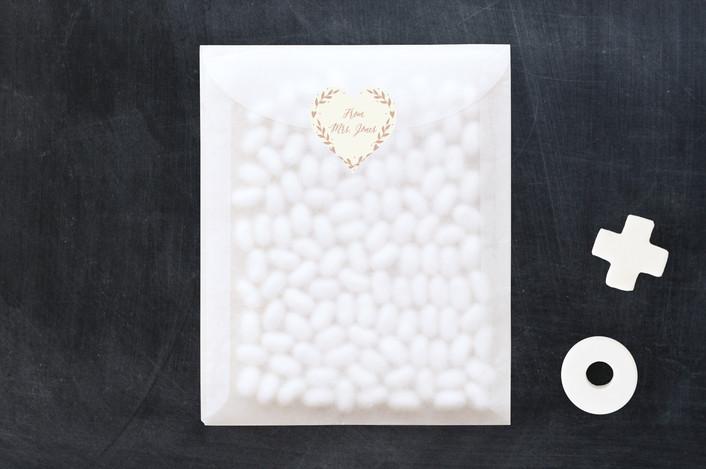 """Sweet Heart"" - Custom Stickers in Burnt Rose by Oma N. Ramkhelawan."