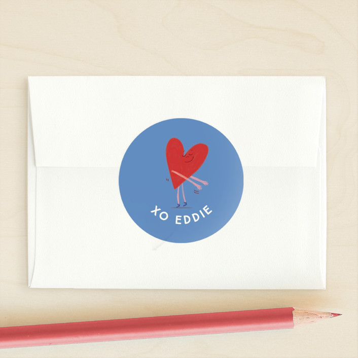 """Valentine Floss Boss"" - Custom Stickers in Robin's Egg by Baumbirdy."