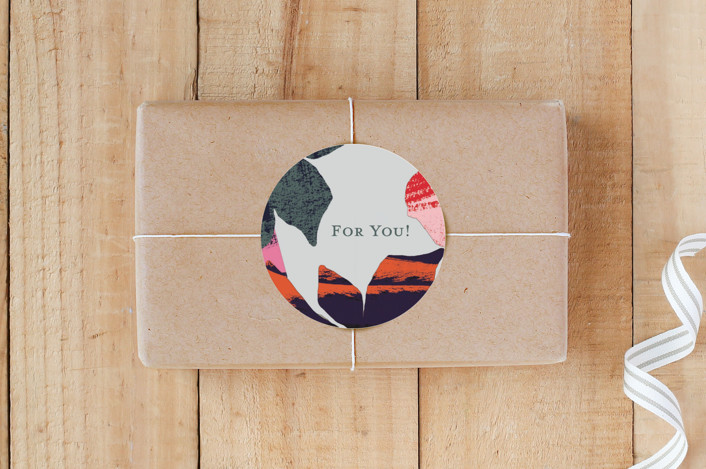 """Garden"" - Modern Custom Stickers in Earth Tones by Susanna Nousiainen."