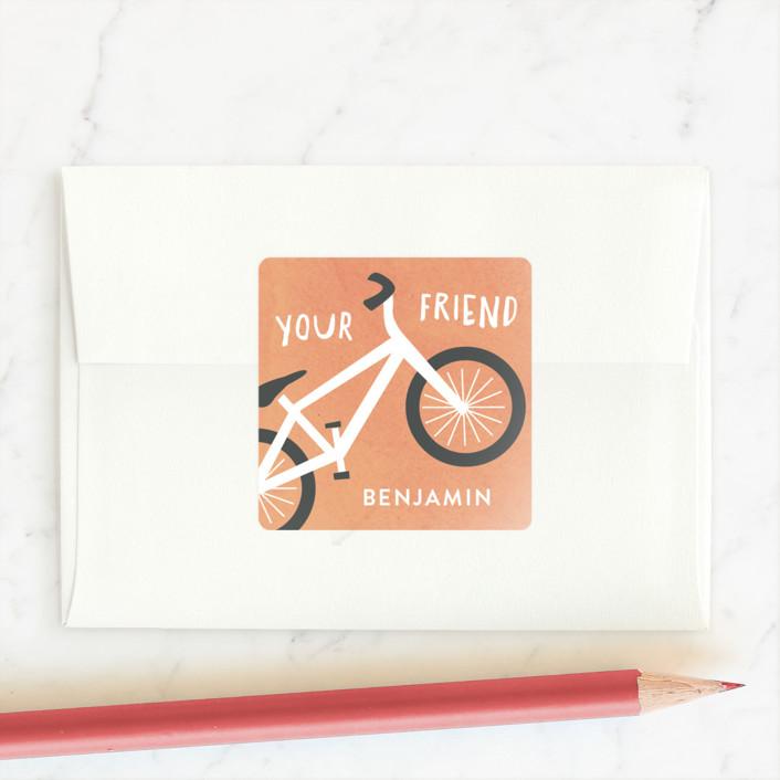 """""""Wheelie Cool"""" - Custom Stickers in Sherbert by Carolyn MacLaren."""