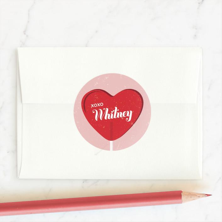 """""""Lollipop Stuck"""" - Custom Stickers in Candy by Molly Wiggins."""