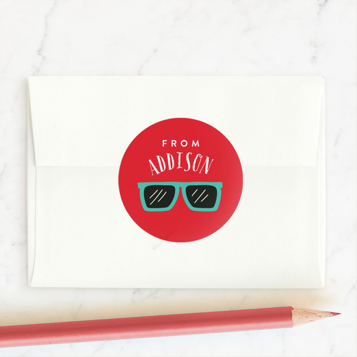 """So Fly"" - Custom Stickers in Crimson by Joanna Griffin."