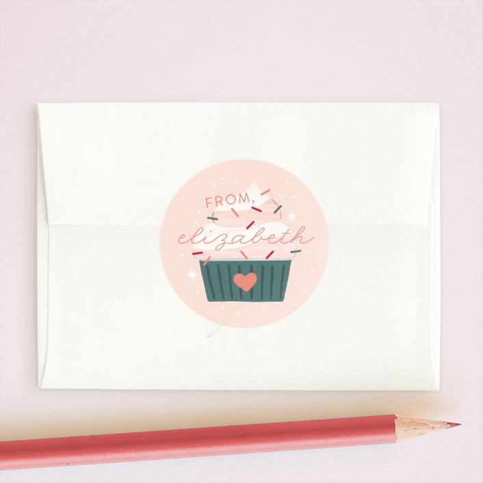 """""""You're Sweet"""" - Custom Stickers in Strawberry Sorbet by JeAnna Casper."""