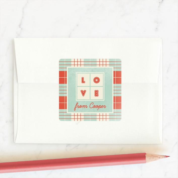 """""""Love sudoku"""" - Custom Stickers in Mint by Gwen Bedat."""
