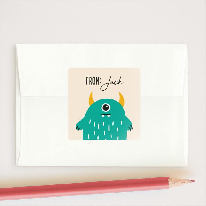 """""""Eye Think You're Great"""" - Custom Stickers in Turquoise by Genna Blackburn."""