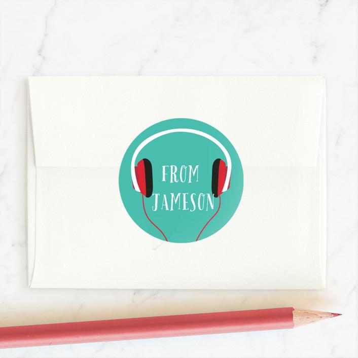 """My Jam"" - Custom Stickers in Aqua by Joanna Griffin."