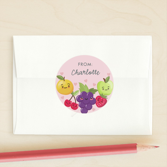 """Fruit Search"" - Custom Stickers in Berry by Oma N. Ramkhelawan."