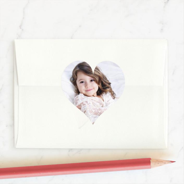 """Happy Love Day"" - Custom Stickers in Blush by Angela Garrick."