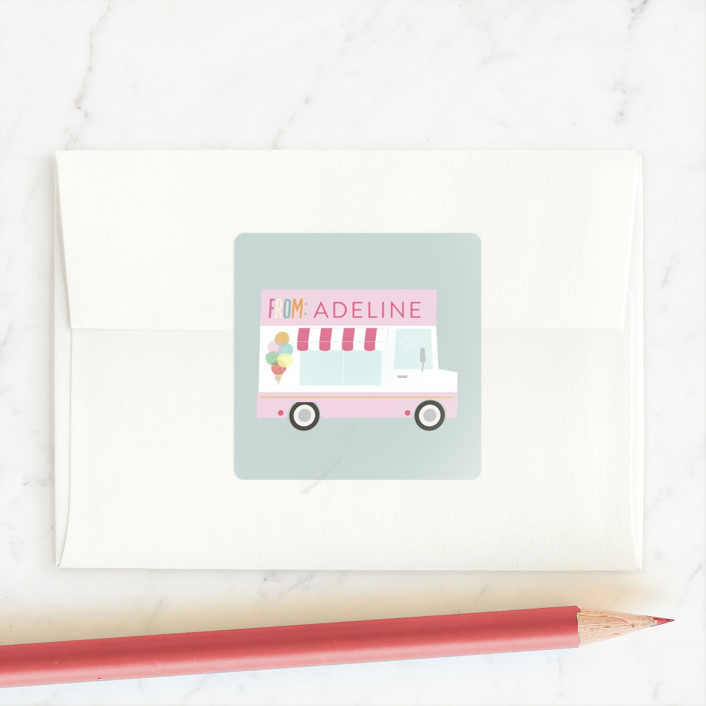 """I like how you roll"" - Custom Stickers in Blush by Itsy Belle Studio."