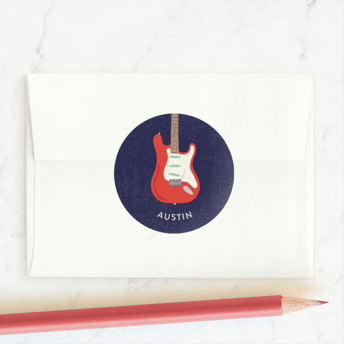 """Electric Valentine"" - Custom Stickers in Royal by Kim Sabel."