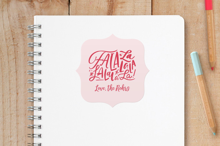 """""""little lala"""" - Modern Custom Stickers in Blush by Carrie ONeal."""