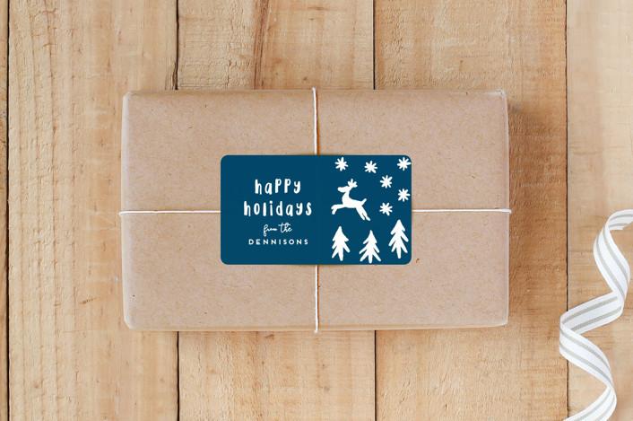 """Reindeer Run Test"" - Custom Stickers in Forest by Gwen Bedat."